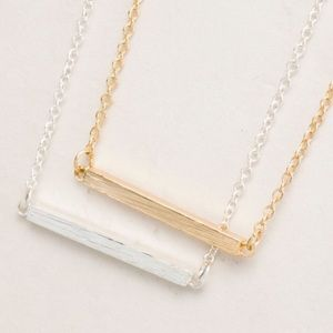 Silver Bar Dainty Necklace
